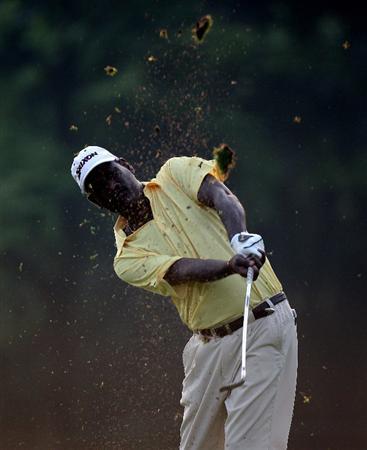 KUALA LUMPUR, MALAYSIA - MARCH 04: P. Gunasegaran of Malaysia during the first round of the Maybank Malaysia Open at the Kuala Lumpur Golf & Country on March 4, 2010 in Kuala Lumpur, Malaysia.  (Photo by Ross Kinnaird/Getty Images)