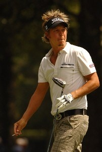Fredrik Jacobson during the first round of the Stanford St. Jude Championship at the TPC Southwinds on Thursday, June 7, 2007 in Memphis, Tennessee. PGA TOUR - 2007 Stanford St. Jude Championship - First RoundPhoto by Marc Feldman/WireImage.com