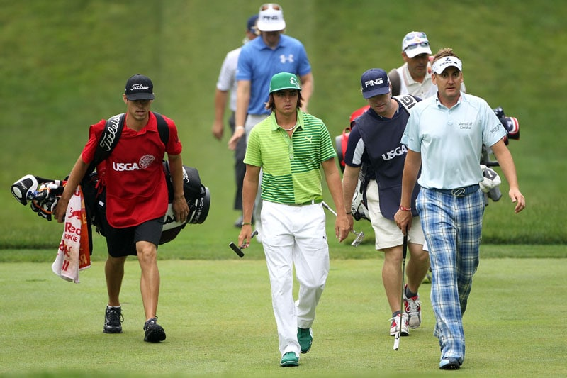 Rickie Fowler, Hunter Mahan and Ian Poulter