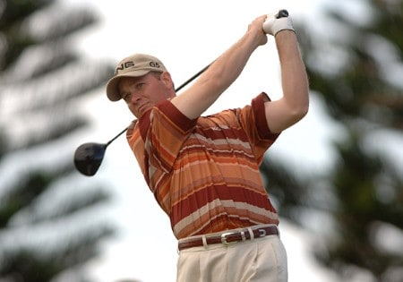 Ted Purdy hits from the third tee during the first round of the PGA TOUR's 2005 Mercedes Championships at The Plantation At Kapalua, in Kapalua Maui, Hawawii January 5, 2005Photo by Steve Grayson/WireImage.com