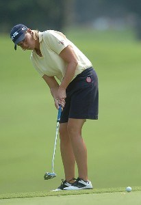 Wendy Ward in action during the second round of the John Q. Hammonds Hotel Classic at the Cedar Ridge Country Club in Broken Arrow, Oklahoma on September 9, 2006.Photo by Steve Grayson/WireImage.com