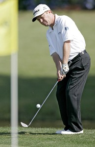 Jeff Sluman during the first round of the Zurich Classic of New Orleans at the English Turn Golf & Country Club in New Orleans, Louisiana on April 27, 2004Photo by Gregory Shamus/WireImage.com