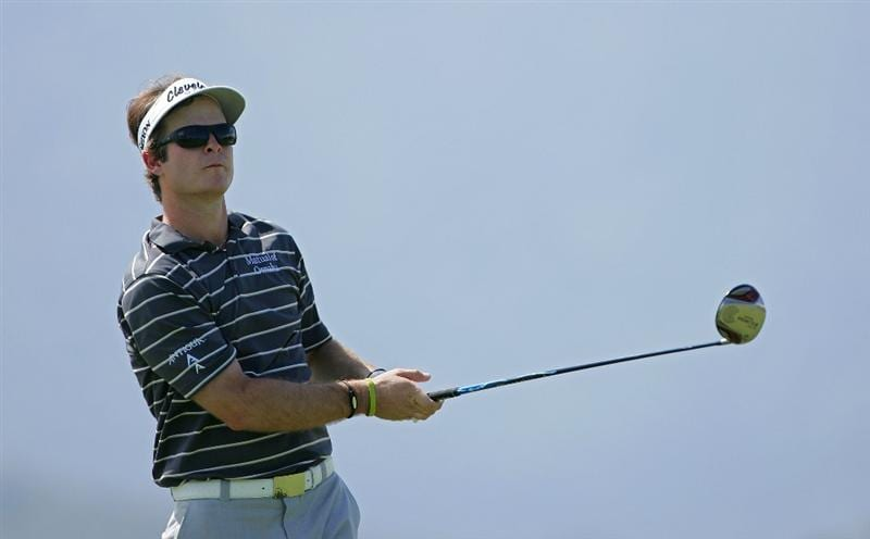 RIO GRANDE, PR - MARCH 14:  Kevin Streelman watches his drive during the continuation of the second round of the Puerto Rico Open presented by Banco Popular at Trump International Golf Club held on March 14, 2010 in Rio Grande, Puerto Rico.  (Photo by Michael Cohen/Getty Images)