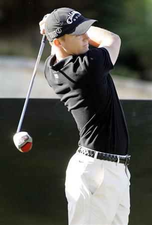 PERTH, AUSTRALIA - FEBRUARY 18: Alexander Noren of Sweden tees off during the Pro-Am event as a preview for the 2009 Johnnie Walker Classic tournament at the Vines Resort and Country Club on February 18, 2009 in Perth, Australia.  (Photo by Paul Kane/Getty Images)