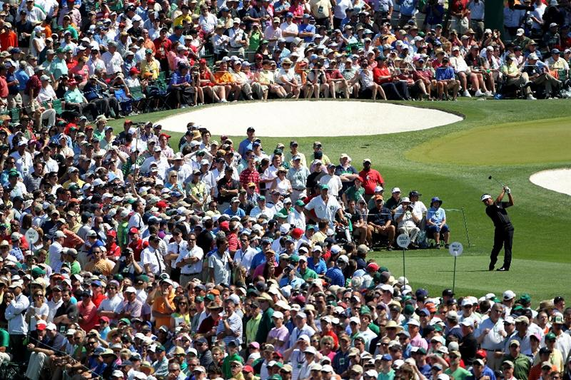 AUGUSTA, GA - APRIL 11:  K.J. Choi of South Africa hits his tee shot on the third hole during the final round of the 2010 Masters Tournament at Augusta National Golf Club on April 11, 2010 in Augusta, Georgia.  (Photo by Jamie Squire/Getty Images)