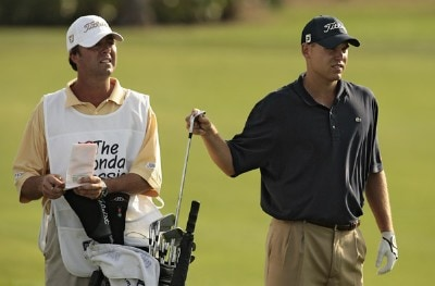 Bill Haas during the first round of the 2007 Honda Classic on the PGA National Champion Course in West Palm Beach, Florida. March 1, 2007. PGA TOUR - The 2007 Honda Classic - First RoundPhoto by Pete Fontaine/WireImage.com