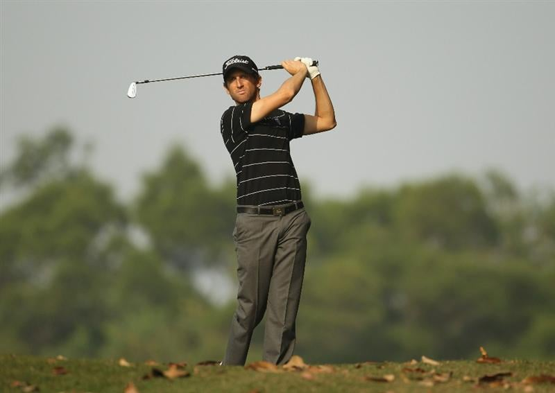 HONG KONG - NOVEMBER 19:  Gregory Bourdy of France in action during day two of the UBS Hong Kong Open at The Hong Kong Golf Club on November 19, 2010 in Hong Kong, Hong Kong.  (Photo by Ian Walton/Getty Images)