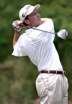 Jerry Smith hits from the tee during Round Three of the Chattanooga Classic  at Black Creek Club in Chattanooga, Tennessee on June 4, 2005.Photo by Joe Murphy/WireImage.com