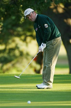 MADRID, SPAIN - OCTOBER 09:  Damien McGrane of Ireland in action during the Madrid Masters at the Club de Campo Villa de Madrid on October 9, 2008 in Madrid, Spain.  (Photo by Ian Walton/Getty Images)