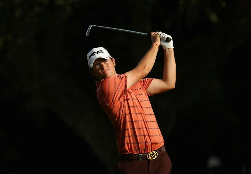 SOTOGRANDE, SPAIN - OCTOBER 29:  Gary Boyd of England plays into the 16th green during the second round of the Andalucia Valderrama Masters at Club de Golf Valderrama on October 29, 2010 in Sotogrande, Spain.  (Photo by Richard Heathcote/Getty Images)