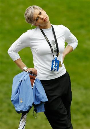 NEWPORT, WALES - OCTOBER 03:  Holly Sweeney, partner of Europe Ryder Cup team player Rory McIlroy watches the action during the  Fourball & Foursome Matches during the 2010 Ryder Cup at the Celtic Manor Resort on October 3, 2010 in Newport, Wales.  (Photo by Sam Greenwood/Getty Images)