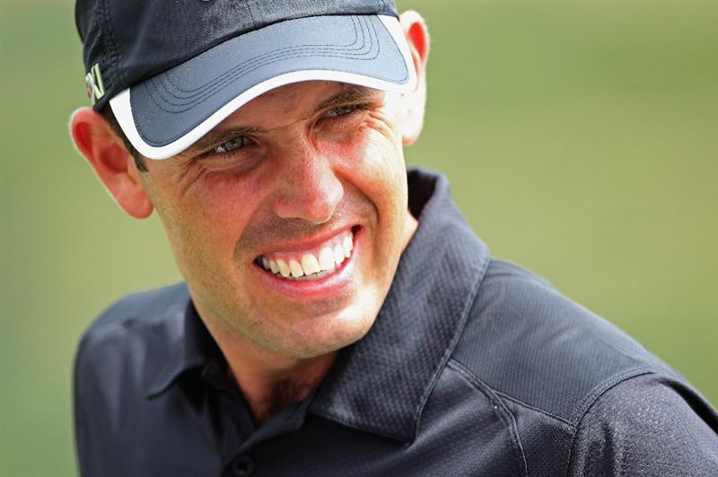 CASARES, SPAIN - MAY 17:  Charl Schwartzel of South Africa on the driving range during practice for the Volvo World Match Play Championship at Finca Cortesin on May 17, 2011 in Casares, Spain.  (Photo by Andrew Redington/Getty Images)