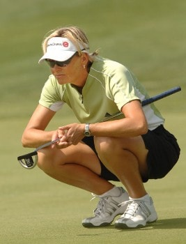 Liselotte Neumann in action during the first round of the 2005 Office Depot Championship at Trump National Golf Club Los Angeles in Rancho Palos Verdes, California September 30, 2005.