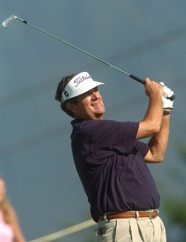 Bruce Lietzke in action during the championship round of the 2005 Boeing Greater Seattle Classic at TPC at Snoqualmie Ridge in Snoqualmie, Washington August 21, 2005.Photo by Steve Grayson/WireImage.com
