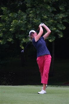 ROGERS, AR - JULY 4:  Stacy Lewis hits a tee shot on the fifth hole during the first round of the P&G Beauty NW Arkansas Championship presented by John Q. Hammons on July 4, 2008 at Pinnacle Country Club in Rogers, Arkansas. (Photo by G. Newman Lowrance/Getty Images)