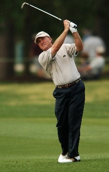 Danny Briggs hits from the fifth fairway during the second round of the 2005 Shell Houston Open, at the Redstone Golf Club in Houston, Texas April 22, 2005.Photo by Steve Grayson/WireImage.com