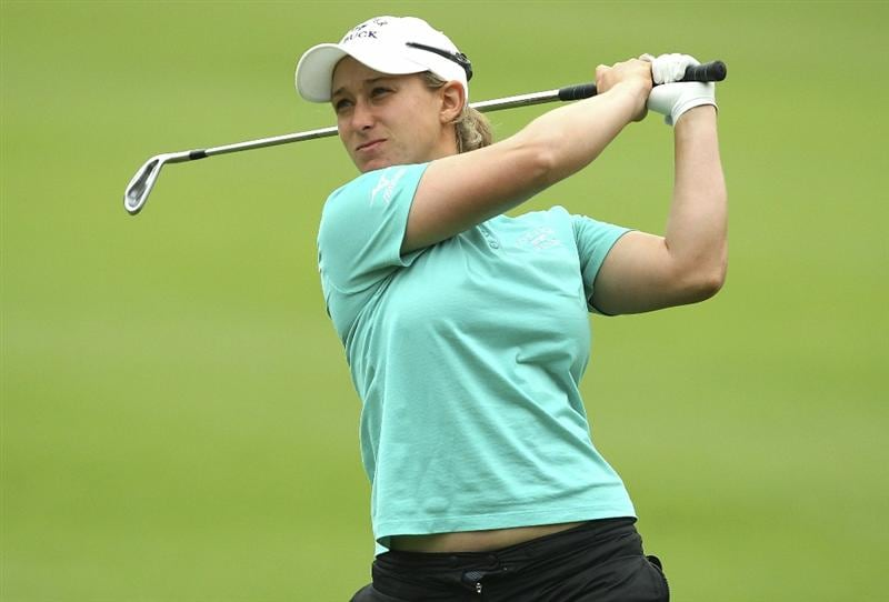 MELBOURNE, AUSTRALIA - FEBRUARY 05:  Stacy Lee Bregman of South Africa plays a shot during day three of the Women's Australian Open at The Commonwealth Golf Club on February 5, 2011 in Melbourne, Australia.  (Photo by Lucas Dawson/Getty Images)