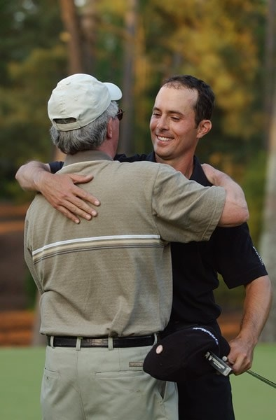 Mike Weir and father Richard