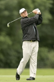 Sandy Lyle during the second round of the 2005 Smurfit European Open on the Palmer Course at the K Club in Straffan, Ireland on July 1, 2005.Photo by Pete Fontaine/WireImage.com