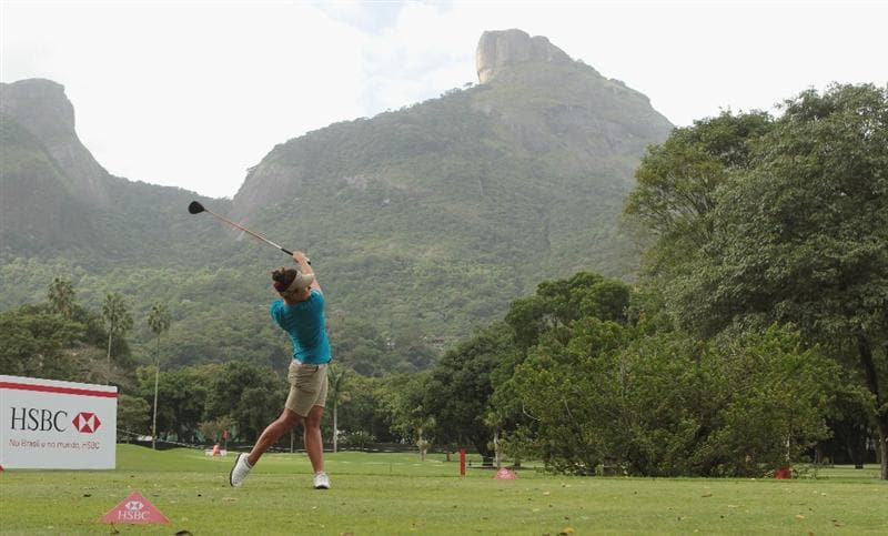 RIO DE JANEIRO, BRAZIL - MAY 29:  Mariajo Uribe of Colombia hits her tee shot on the ninth hole during the final round of the HSBC LPGA Brazil Cup at the Itanhanga Golf Club on May 29, 2011 in Rio de Janeiro, Brazil.  (Photo by Scott Halleran/Getty Images)