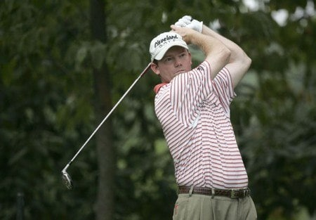 Shaun Micheel during the second practice round of the 2005 PGA Championship at Baltusrol Golf Club in Springfield, New Jersey on August 9, 2005.Photo by Hunter Martin/WireImage.com