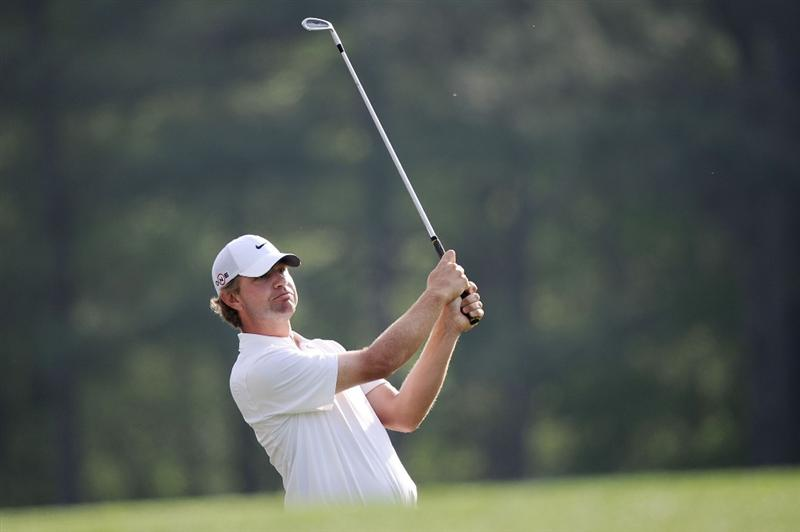 AUGUSTA, GA - APRIL 07:  Lucas Glover watches a shot during a practice round prior to the 2010 Masters Tournament at Augusta National Golf Club on April 7, 2010 in Augusta, Georgia.  (Photo by Harry How/Getty Images)