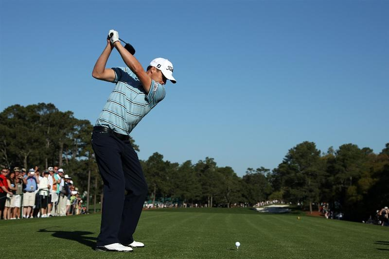 AUGUSTA, GA - APRIL 04:  Nick Watney hits a shot during a practice round prior to the 2011 Masters Tournament at Augusta National Golf Club on April 4, 2011 in Augusta, Georgia.  (Photo by Andrew Redington/Getty Images)