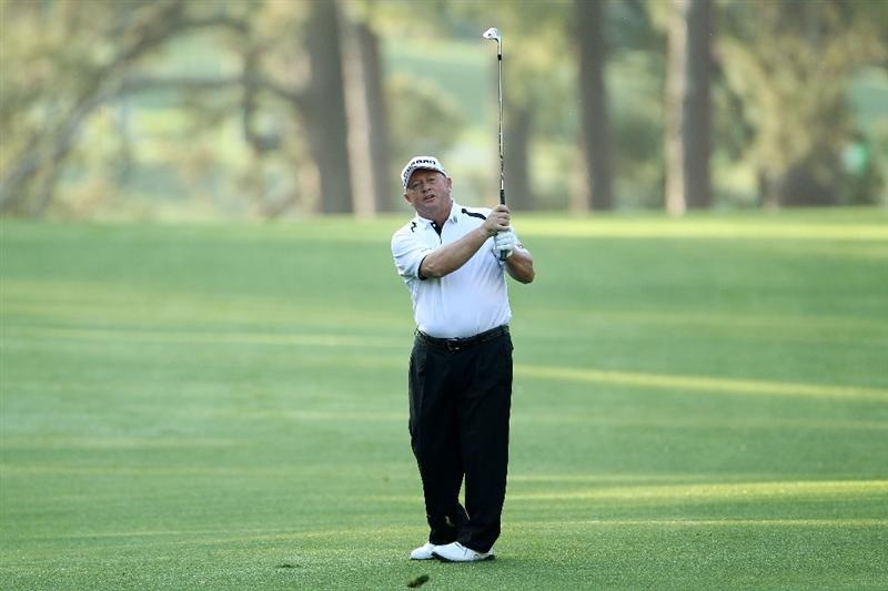 AUGUSTA, GA - APRIL 08:  Ian Woosnam of Wales hits his second shot on the first hole during the first round of the 2010 Masters Tournament at Augusta National Golf Club on April 8, 2010 in Augusta, Georgia.  (Photo by Jamie Squire/Getty Images)