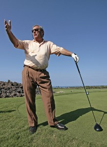 Fuzzy Zoeller jokes with his playing partners while waiting for the fairway to clear during the Wednesday Pro-Am round of the 2007 MasterCard Championship at Hualalai held at Hualalai Golf Club in Ka'upulehu-Kona, Hawaii, on January 17, 2007. Photo by: Chris Condon/PGA TOURPhoto by: Chris Condon/PGA TOUR