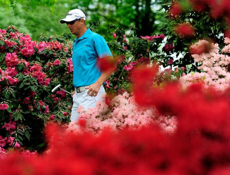 TURIN, ITALY - MAY 09:  Fredrik Andersson Hed of Sweden walks amongst he flowers during the final round of the BMW Italian Open at Royal Park I Roveri on May 9, 2010 in Turin, Italy.  (Photo by Stuart Franklin/Getty Images)
