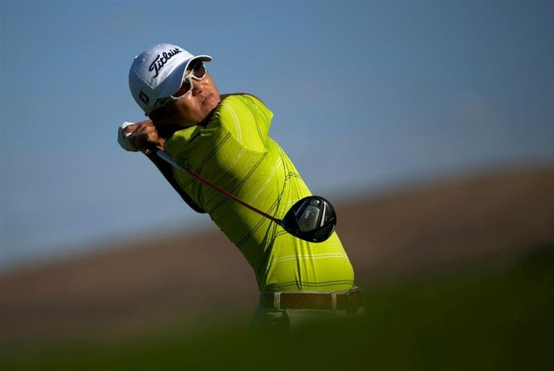 SAN MARTIN, CA - OCTOBER 14:  Ryuji Imada of Japan makes a tee shot on the sixth hole during the first round of the Frys.com Open at the CordeValle Golf Club on October 14, 2010 in San Martin, California.  (Photo by Robert Laberge/Getty Images)