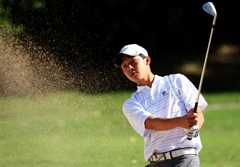 HONOLULU - JANUARY 15:  Lorens Chan (a) plays a shot from the bunker during the first round of the Sony Open at Waialae Country Club on January 15, 2009 in Honolulu, Hawaii.  (Photo by Sam Greenwood/Getty Images)