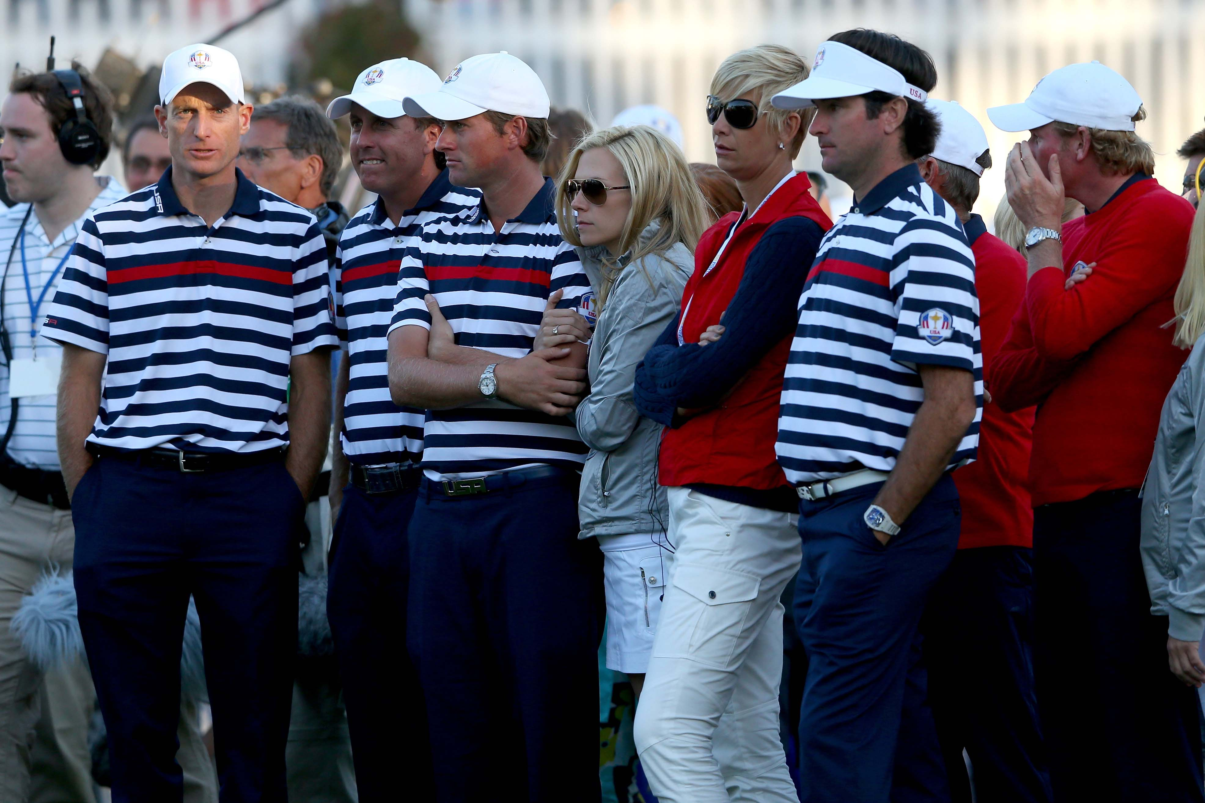 (L-R) Jim Furyk, Phil Mickelson, Webb Simpson and Bubba Watson