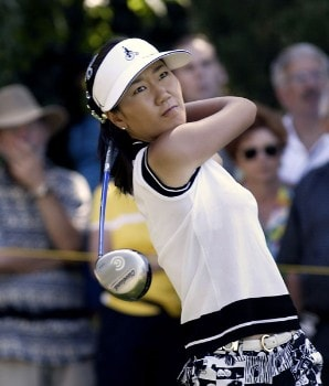 Tournament champion Soo-Yun Kang won her first LPGA event at 15 under par. Shooting a 64, 68, 69 at the 2005 Safeway Classic held at Columbia Edgewater Country Club, Sunday,  August 21, 2005.Photo by Allan Campbell/WireImage.com