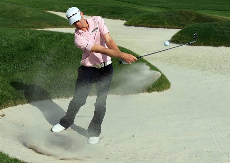 ORLANDO, FL - MARCH 28:  Vaughn Taylor plays a bunker shot on the 14th hole during the third round of the Arnold Palmer Invitational at the Bay Hill Club & Lodge on March 28, 2009 in Orlando, Florida.  (Photo by Scott Halleran/Getty Images)