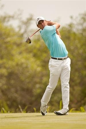SAN ANTONIO, TX - APRIL 17: Charles Howell III follows through on a tee shot during the final round of the Valero Texas Open at the AT&T Oaks Course at TPC San Antonio on April 17, 2011 in San Antonio, Texas. (Photo by Darren Carroll/Getty Images)