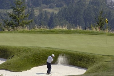 David Eger during the first round of the Boeing Greater Seattle Classic at the TPC Snoqualmie Ridge in Snoqualmie, Washington on Friday, August 18, 2006.Photo by Marc Feldman/WireImage.com