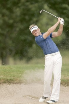 Jamie Donaldson during the third round of the 2005 Smurfit European Open on the Palmer Course at the K Club in Straffan, County Kildare, Ireland on July 2, 2005Photo by Pete Fontaine/WireImage.com
