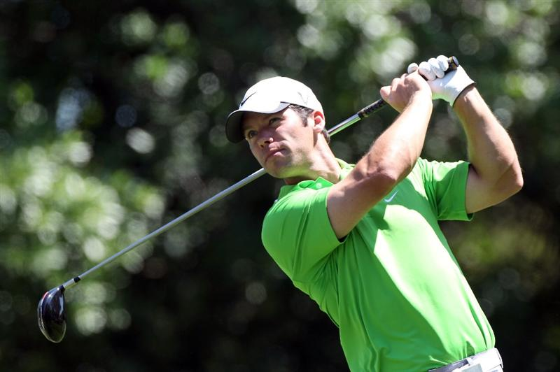 PALM HARBOR, FL - MARCH 17:  Paul Casey of England plays a shot on the 9th hole during the first round of the Transitions Championship at Innisbrook Resort and Golf Club on March 17, 2011 in Palm Harbor, Florida.  (Photo by Sam Greenwood/Getty Images)