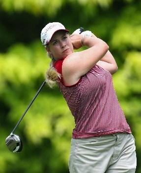 SINGAPORE - FEBRUARY 28:  Brittany Linciome of the USA on the par four 6th hole during the first round of the HSBC Women's Champions at the Tanah Merah Country Club on February 28, 2008 in Singapore.  (Photo by Ross Kinnaird/Getty Images)