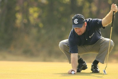 Rod Pampling during the first round of the 135th Open Championship at Royal Liverpool Golf Club in Hoylake, Great Britain on July 20, 2006.Photo by Pete Fontaine/WireImage.com