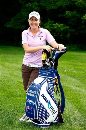 BETHLEHEM, PA - JULY 08:  Lindsey Wright of Australia poses during a practice round prior to the start of the 2009 U.S. Women's Open at the Saucon Valley Country Club on July 8, 2009 in Bethlehem, Pennsylvania.  (Photo by Scott Halleran/Getty Images)