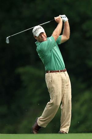 AUGUSTA, GA - APRIL 08:  Tom Watson hits his second shot on the fifth hole during the second round of the 2011 Masters Tournament at Augusta National Golf Club on April 8, 2011 in Augusta, Georgia.  (Photo by David Cannon/Getty Images)