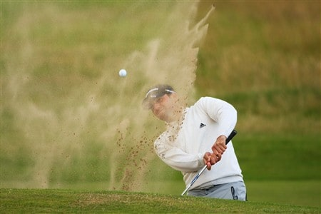 SOUTHPORT, UNITED KINGDOM - JULY 16:  Sergio Garcia of Spain plays a bunker shot on the 4th hole during the third practice round of the 137th Open Championship on July 16, 2008 at Royal Birkdale Golf Club, Southport, England.  (Photo by Andrew Redington/Getty Images)