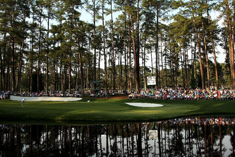 AUGUSTA, GA - APRIL 09:  Jason Day of Australia hits a putt on the 16th green during the third round of the 2011 Masters Tournament at Augusta National Golf Club on April 9, 2011 in Augusta, Georgia.  (Photo by Andrew Redington/Getty Images)