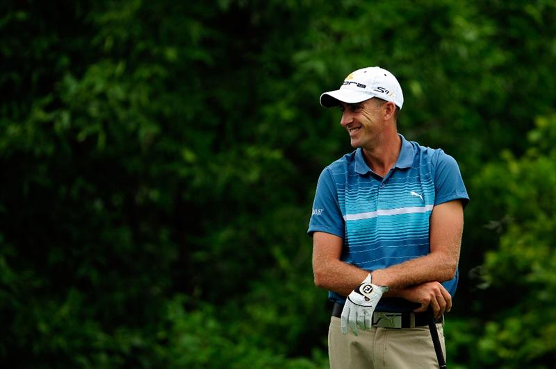 CHASKA, MN - AUGUST 13:  Geoff Ogilvy of Australia waits on the tenth tee during the first round of the 91st PGA Championship at Hazeltine National Golf Club on August 13, 2009 in Chaska, Minnesota.  (Photo by Sam Greenwood/Getty Images)