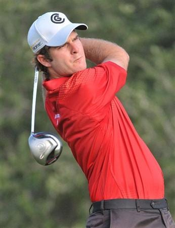 SAN ANTONIO,TX - OCTOBER 10: Kevin Streelman tees off the 5th hole during the second round of the Valero Texas Open  held at La Cantera Golf Club on October 10, 2008 in San Antonio, Texas  (Photo by Marc Feldman\Getty Images)