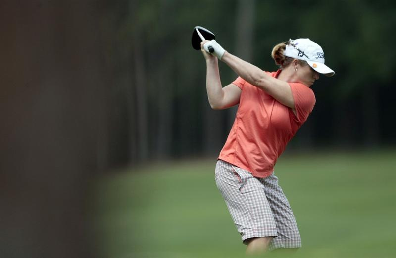 MOBILE, AL - MAY 13: Allison Fouch hits from the 11th tee during first round play in Bell Micro LPGA Classic at the Magnolia Grove Golf Course on May 13, 2010 in Mobile, Alabama.  (Photo by Dave Martin/Getty Images)