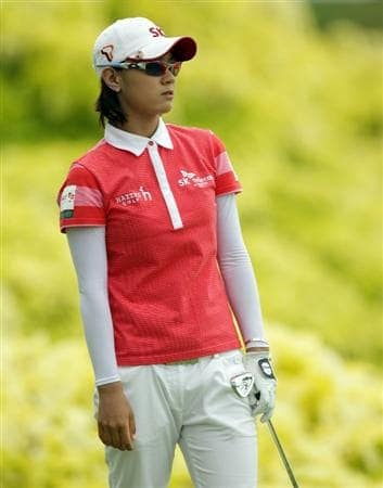 SINGAPORE - FEBRUARY 27:  Na Yeon Choi of South Korea during the final round of the HSBC Women's Champions at Tanah Merah Country Club  on February 27, 2011 in Singapore, Singapore.  (Photo by Ross Kinnaird/Getty Images)
