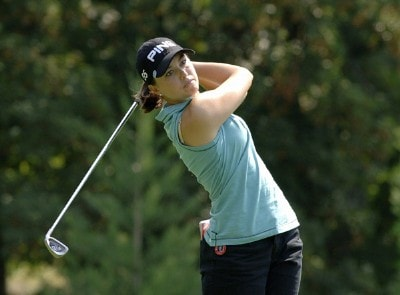 Stacy Prammanasudh on the second tee during the first round of the Safeway Classic at Columbia-Edgewater Country Club in Portland, Oregon on August 18, 2006.Photo by Al Messerschmidt/WireImage.com